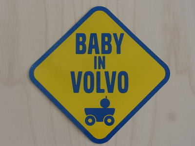 BABY IN VOLVO ステッカープレゼント♪