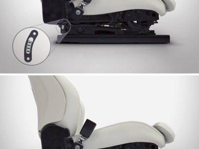 衝撃吸収機構付フロントシート