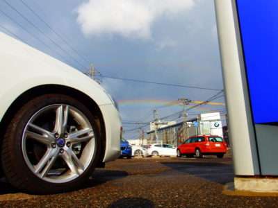 虹が見えました!!